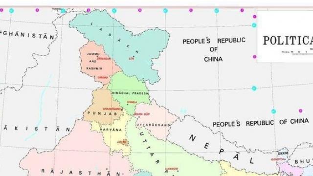 ਮੋਦੀ ਸਰਕਾਰ ਦੇ ਨਵੇਂ ਨਕਸ਼ੇ 'ਚ ਪਾਕਿਸਤਾਨੀ ਕਸ਼ਮੀਰ ਵੀ ਹੈ ਭਾਰਤ 'ਚ